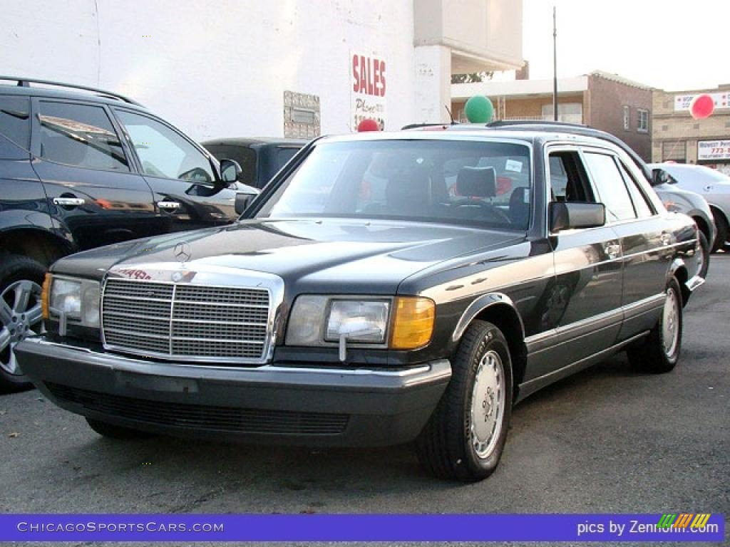 1989 S Class 420 SEL - Black / Black photo #1