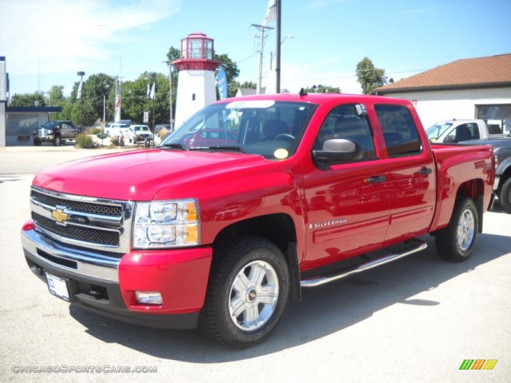 Superb img of 2009 Chevrolet Silverado 1500 LT Z71 Crew Cab 4x4 in Victory Red photo  with #BB1046 color and 1024x768 pixels