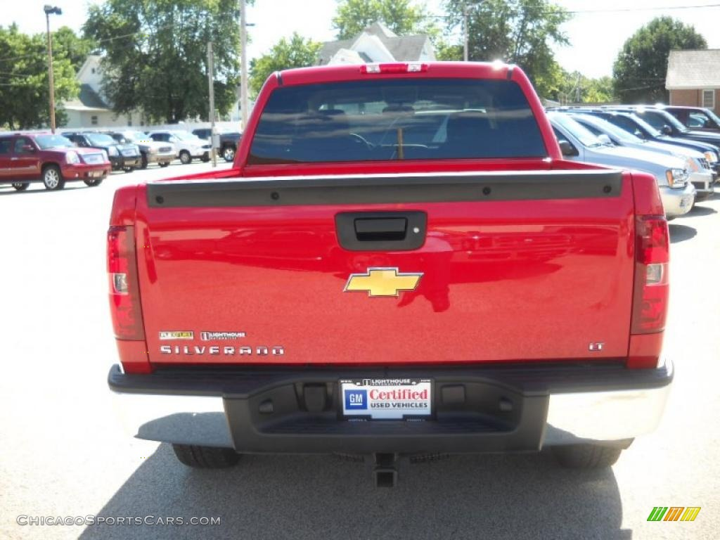 Superb img of 2009 Chevrolet Silverado 1500 LT Z71 Crew Cab 4x4 in Victory Red photo  with #A92722 color and 1024x768 pixels