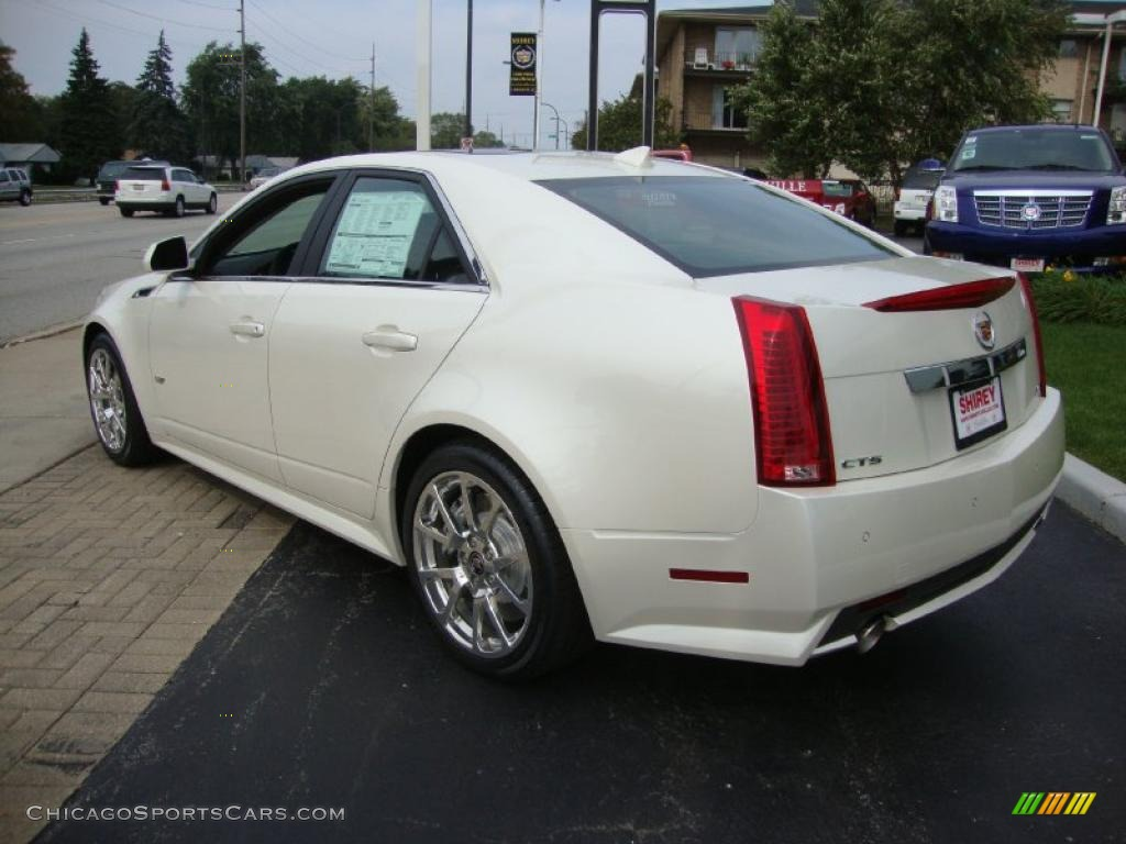 2011 cadillac cts v sedan in white diamond tricoat photo 6 117763. Black Bedroom Furniture Sets. Home Design Ideas