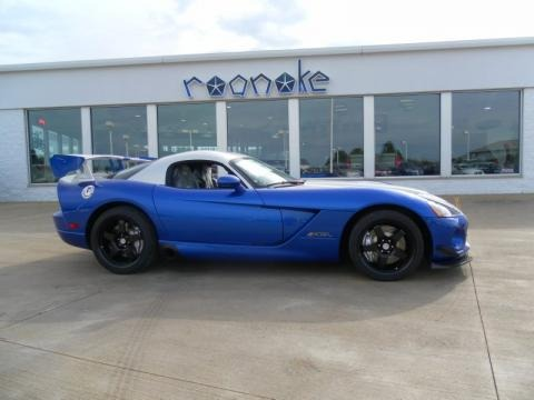 Viper GTS Blue/Silver 2010 Dodge Viper ACR Roanoke Dodge Edition Coupe