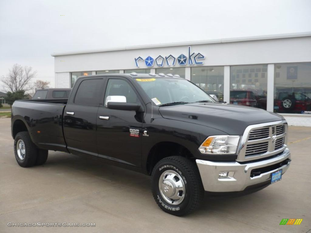 2011 dodge ram 3500 hd laramie crew cab 4x4 dually in brilliant black crystal pearl 543485. Black Bedroom Furniture Sets. Home Design Ideas