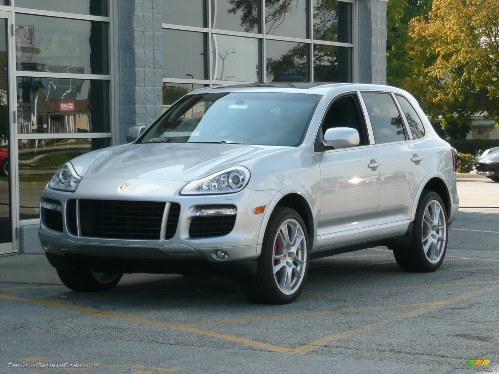 2008 porsche cayenne turbo in crystal silver metallic a91661 cars. Black Bedroom Furniture Sets. Home Design Ideas