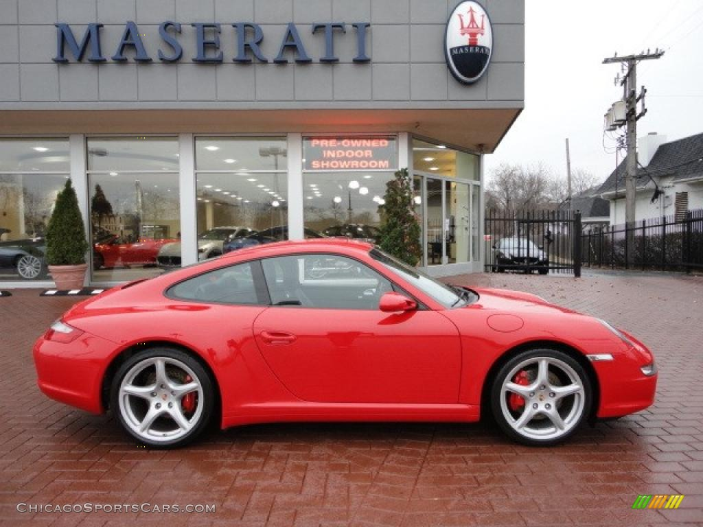 2008 porsche 911 carrera 4s coupe in guards red 731328 cars for sale. Black Bedroom Furniture Sets. Home Design Ideas