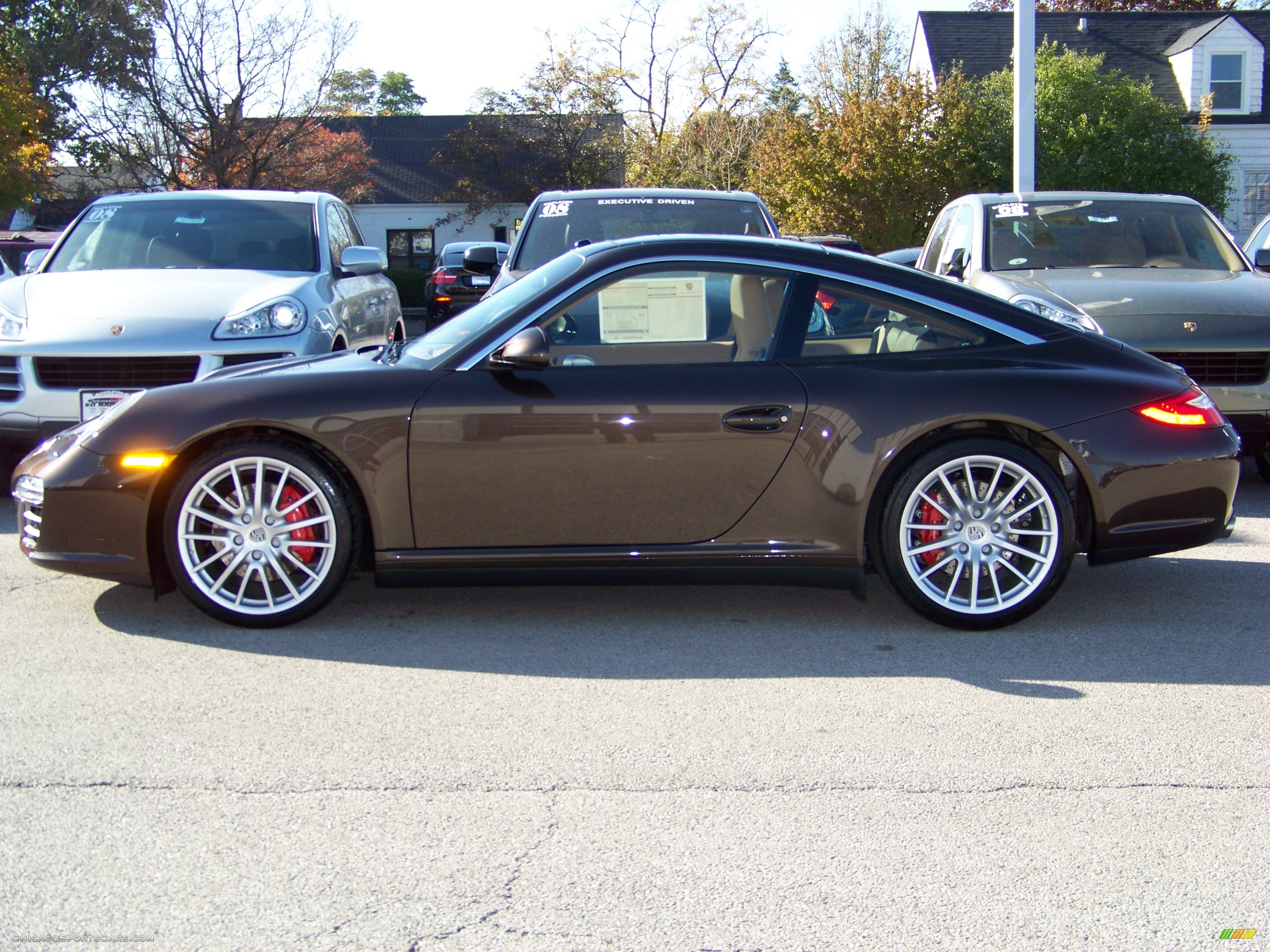 2009 Porsche 911 Targa 4s In Macadamia Metallic Photo 2