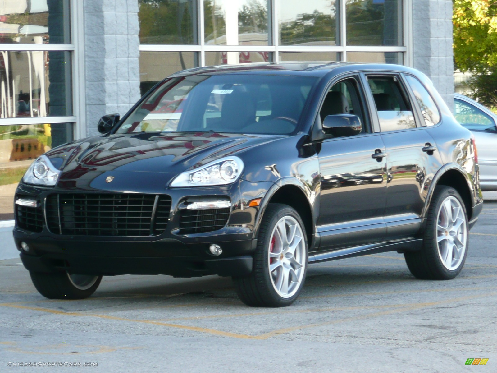 2008 porsche cayenne turbo in black a92316 cars for sale in illinois. Black Bedroom Furniture Sets. Home Design Ideas
