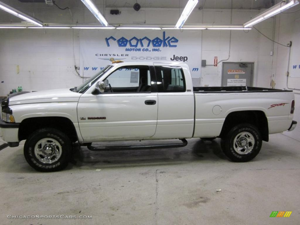1996 dodge ram 1500 sport extended cab 4x4 in bright white 122879. Black Bedroom Furniture Sets. Home Design Ideas