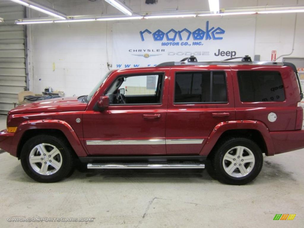 2010 jeep commander limited 4x4 in inferno red crystal. Black Bedroom Furniture Sets. Home Design Ideas