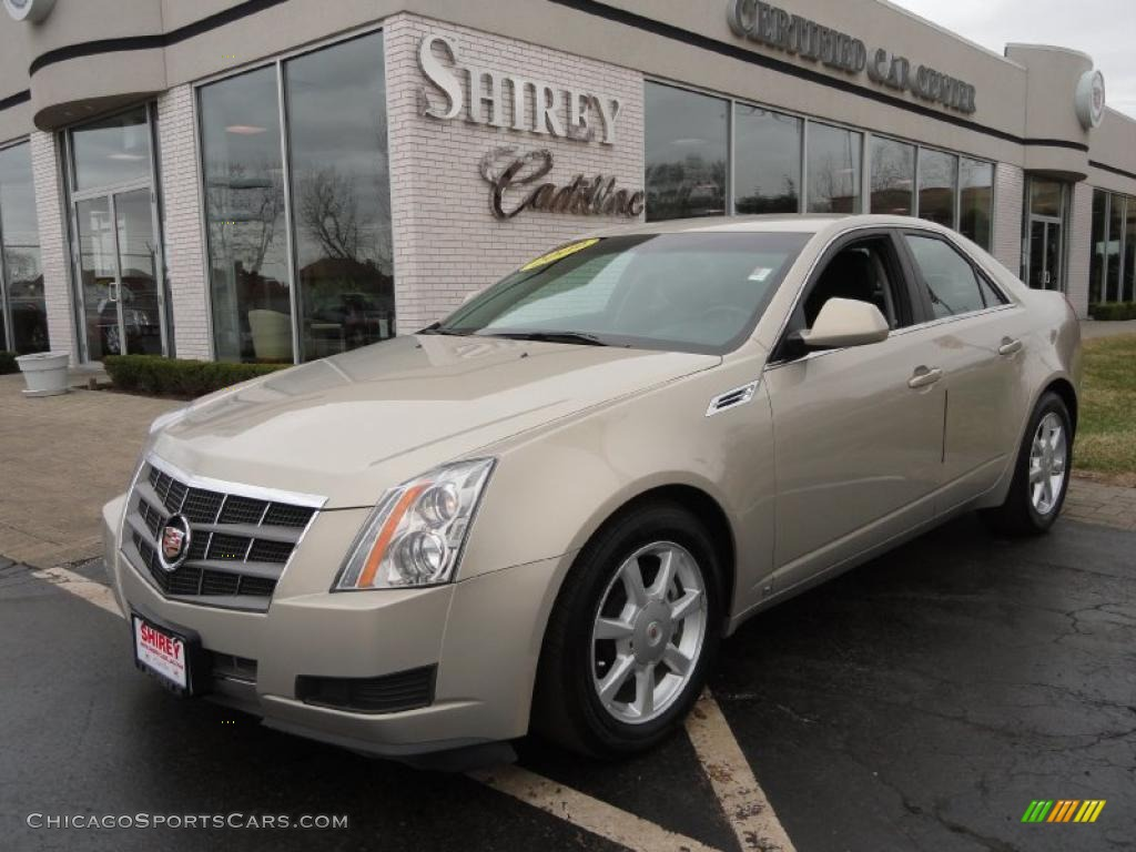 2009 cadillac cts sedan in gold mist 158129 cars for sale in illinois. Black Bedroom Furniture Sets. Home Design Ideas