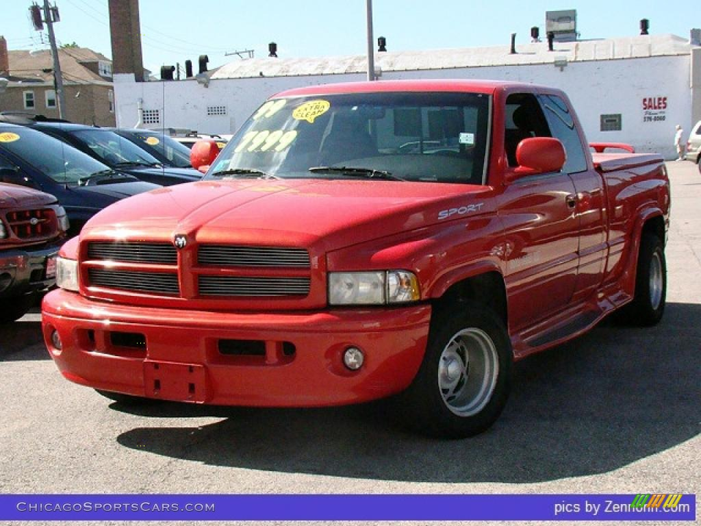 1999 dodge ram 1500 sport extended cab in flame red. Black Bedroom Furniture Sets. Home Design Ideas