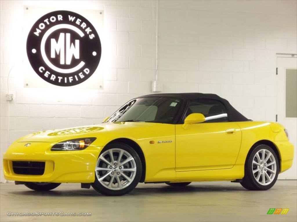 2007 honda s2000 roadster in rio yellow pearl 004585 cars for sale. Black Bedroom Furniture Sets. Home Design Ideas
