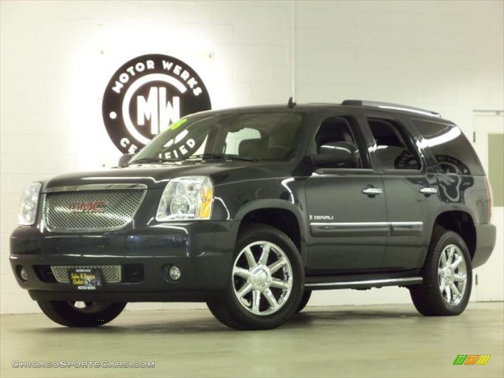 Dark Slate Metallic / Ebony GMC Yukon Denali AWD