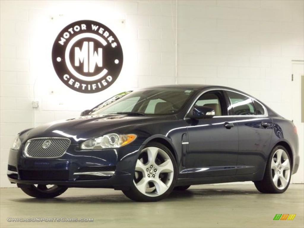 2009 jaguar xf supercharged in indigo blue metallic. Black Bedroom Furniture Sets. Home Design Ideas