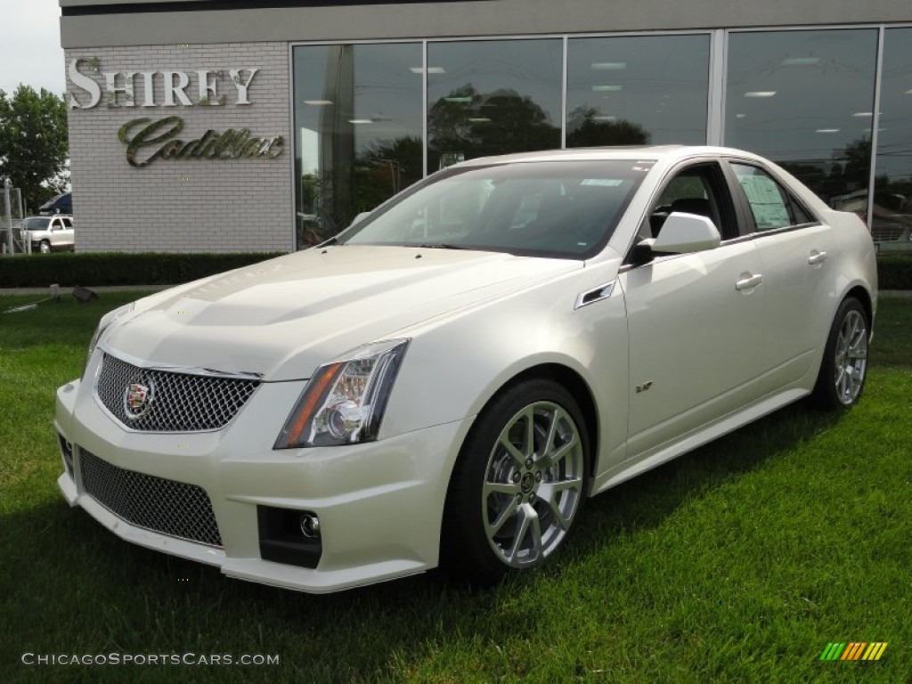 2012 cadillac cts v sedan in white diamond tricoat. Black Bedroom Furniture Sets. Home Design Ideas