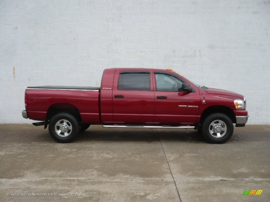 2006 Dodge Ram 2500 Slt Mega Cab 4x4 In Inferno Red