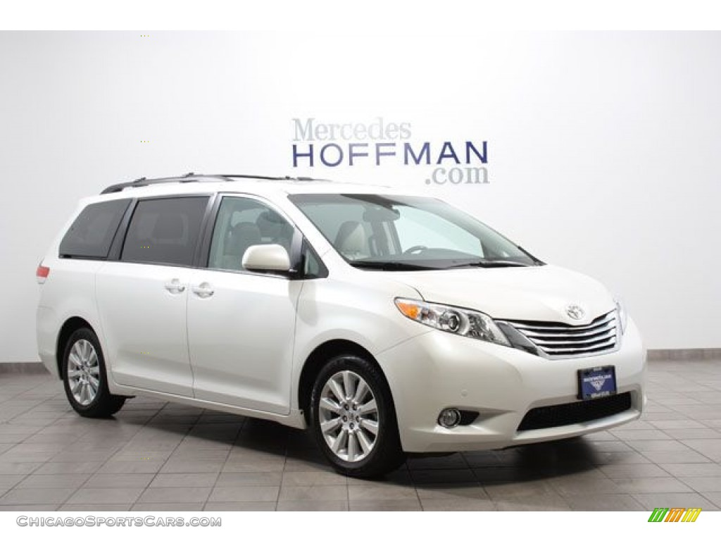 2011 Sienna Limited - Blizzard White Pearl / Bisque photo #1