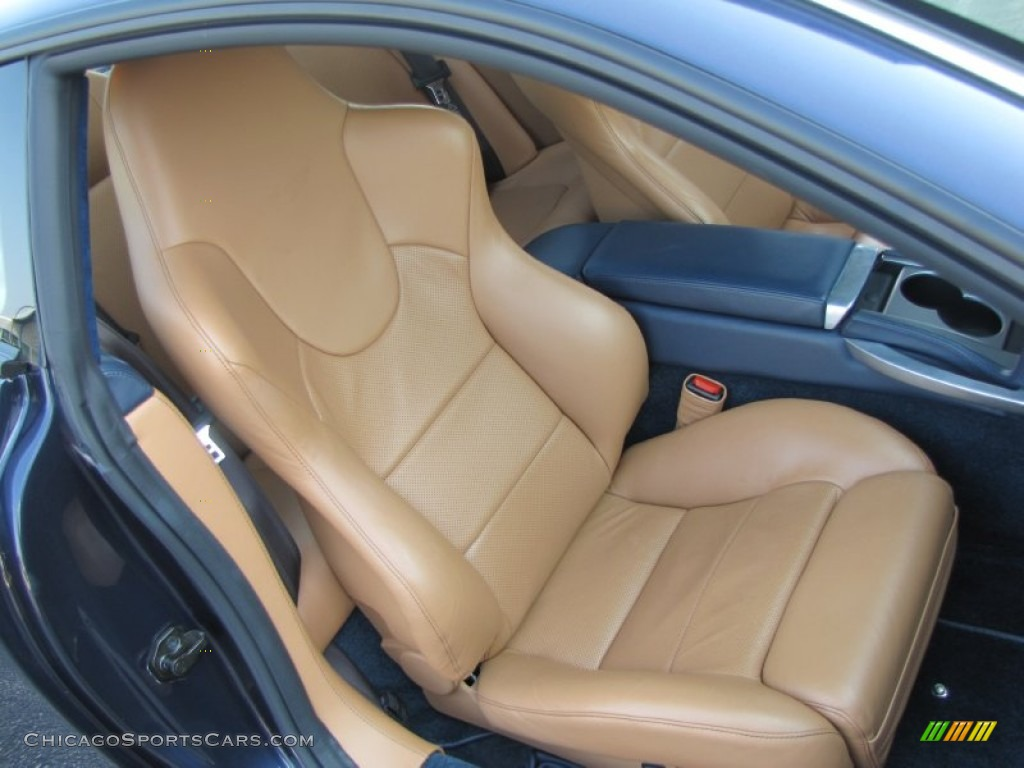 2006 Vanquish S - Blue Sapphire / Caspian Blue/Light Tan photo #38