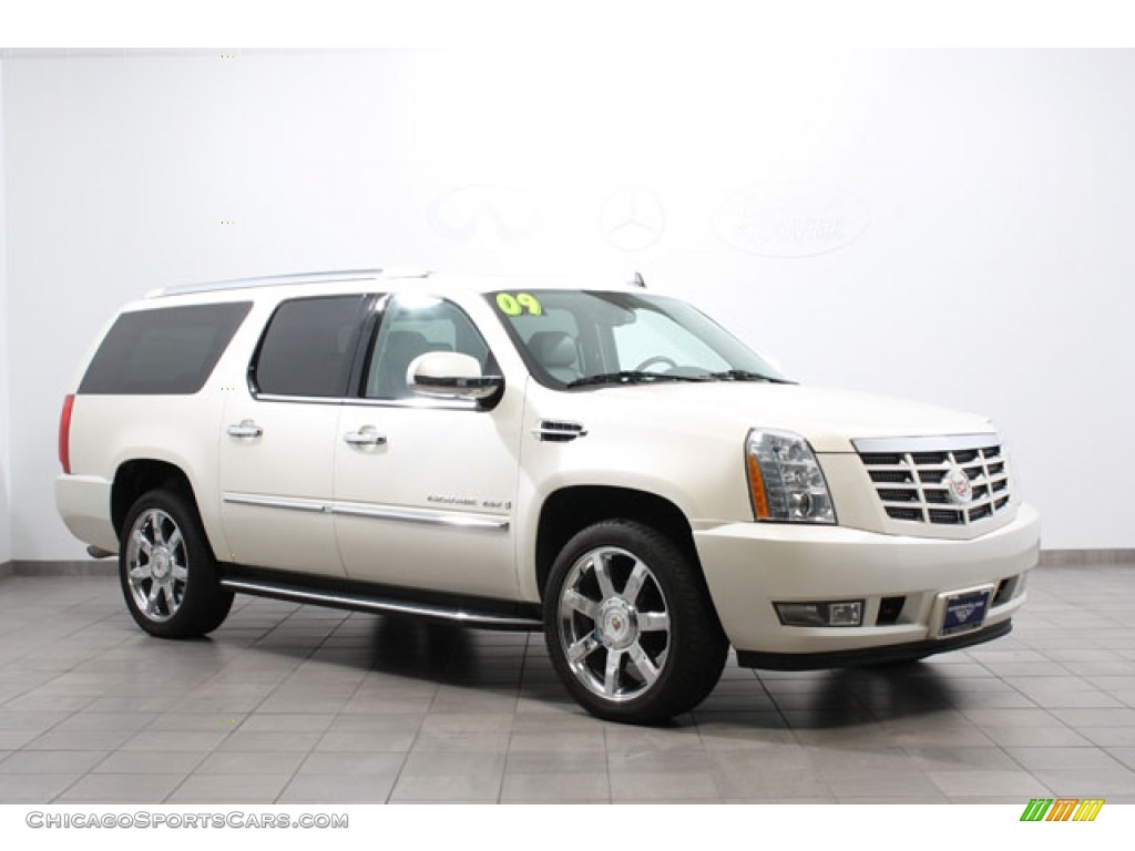 2009 cadillac escalade esv awd in white diamond 144905 cars for sale. Black Bedroom Furniture Sets. Home Design Ideas