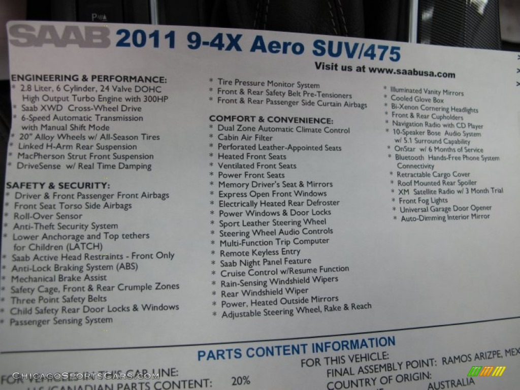 2011 9-4X Aero XWD - Zodiac Black Metallic / Jet Black photo #18