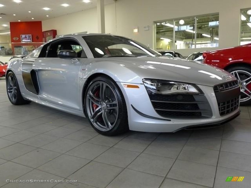 2012 R8 GT - Ice Silver Metallic / Black photo #1