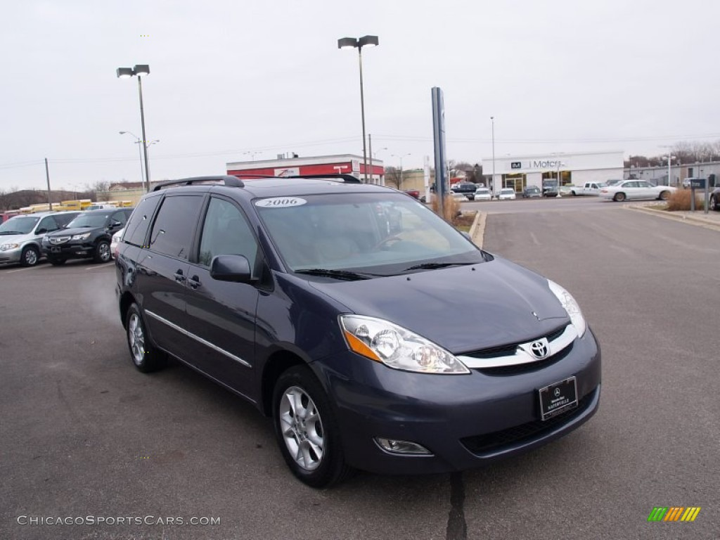 2006 Sienna XLE AWD - Slate Metallic / Stone Gray photo #7
