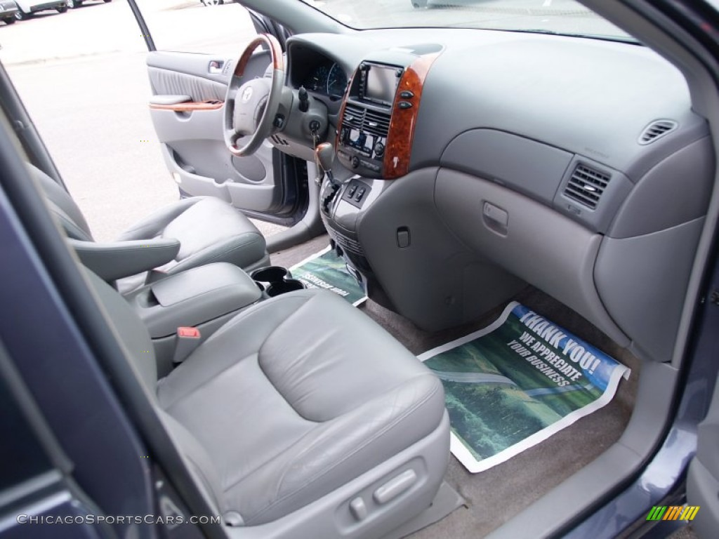2006 Sienna XLE AWD - Slate Metallic / Stone Gray photo #13