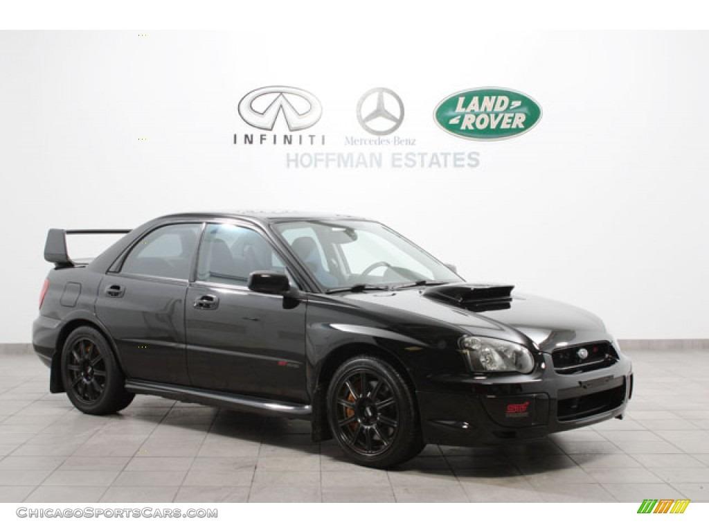 2005 Subaru Impreza Wrx Sti In Obsidian Black Pearl Photo