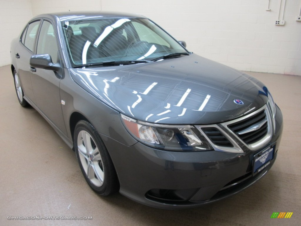 Titan Gray Metallic / Black Saab 9-3 2.0T Sport Sedan XWD