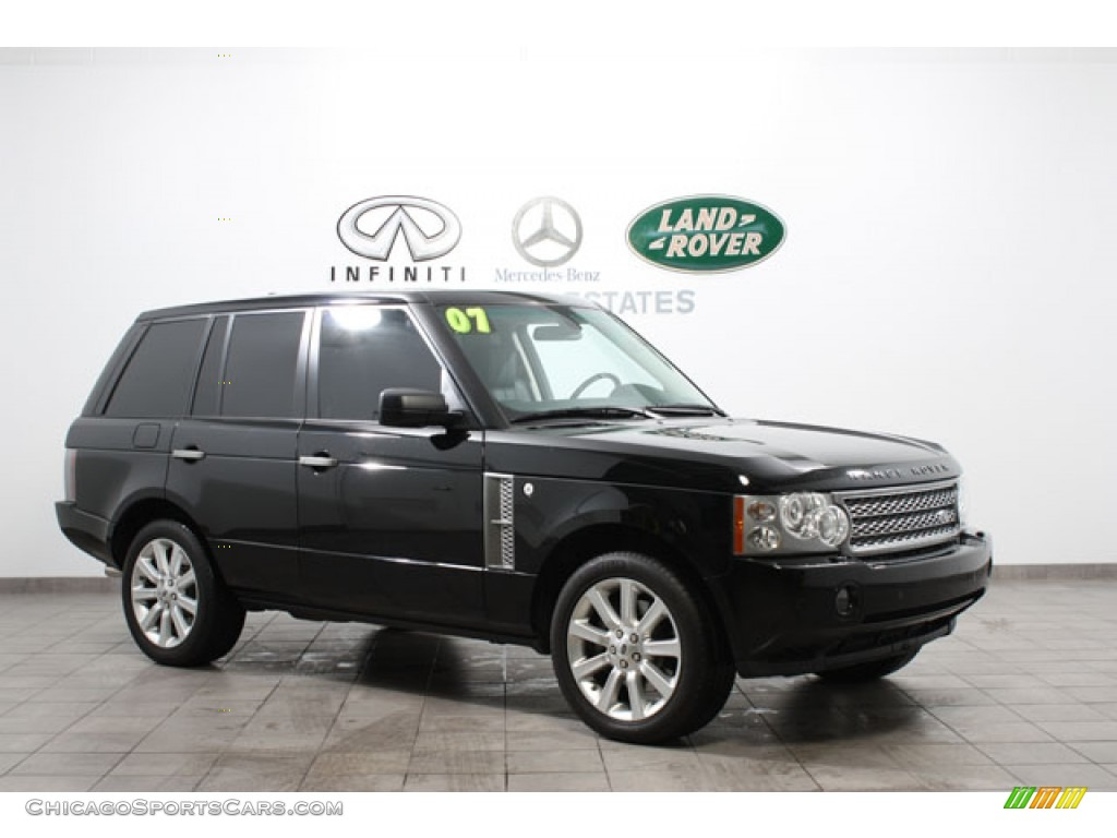 2007 land rover range rover supercharged in java black. Black Bedroom Furniture Sets. Home Design Ideas