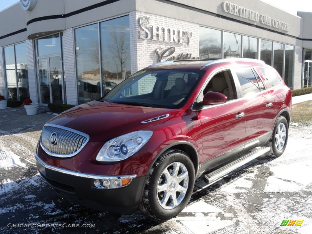 Red Jewel Tintcoat / Cashmere/Cocoa Buick Enclave CXL AWD