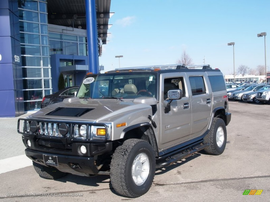 Pewter Metallic / Wheat Hummer H2 SUV