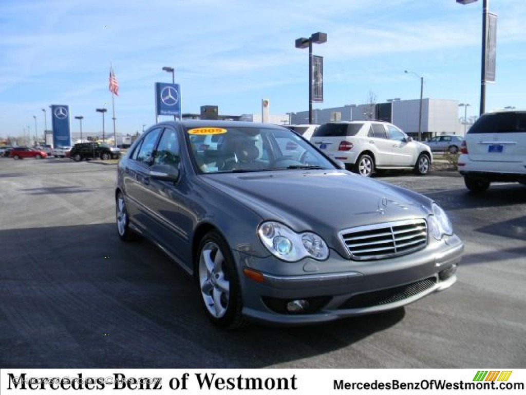2005 C 230 Kompressor Sedan - Granite Grey Metallic / Stone photo #1