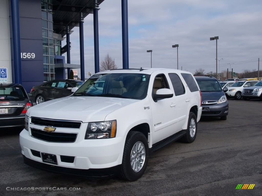 2008 chevrolet tahoe hybrid 4x4 in summit white 216893. Black Bedroom Furniture Sets. Home Design Ideas