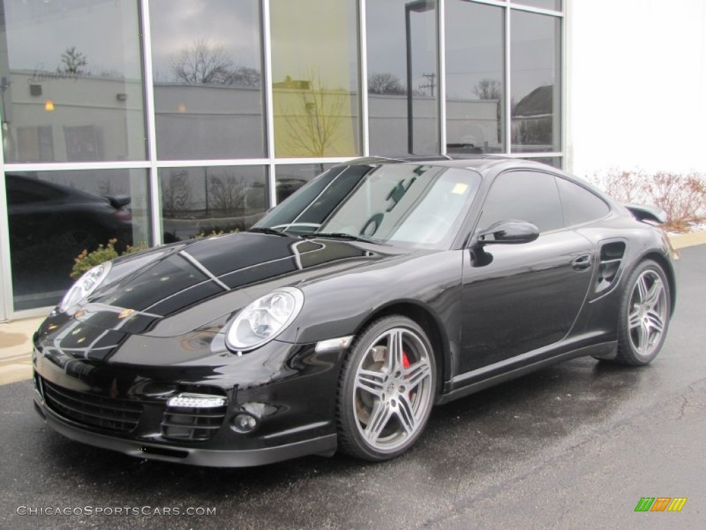 2007 911 Turbo Coupe - Basalt Black Metallic / Black photo #1