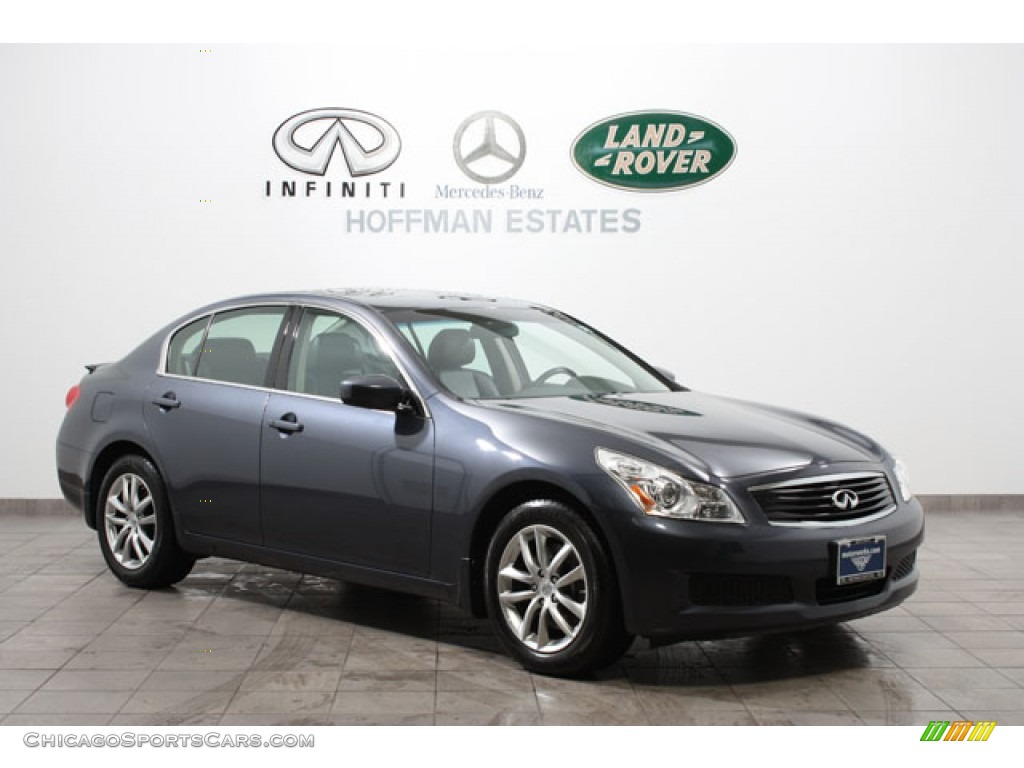 2009 G 37 x Sedan - Blue Slate Metallic / Graphite photo #1
