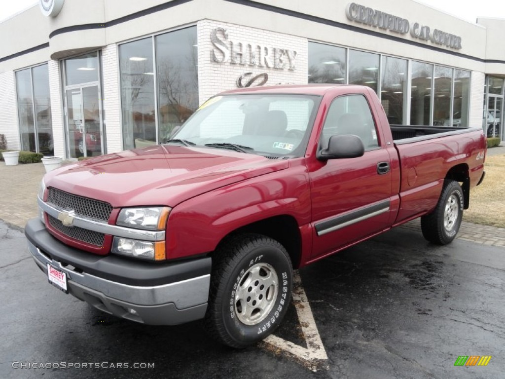 ... Red Metallic / Dark Charcoal Chevrolet Silverado 1500 Regular Cab 4x4