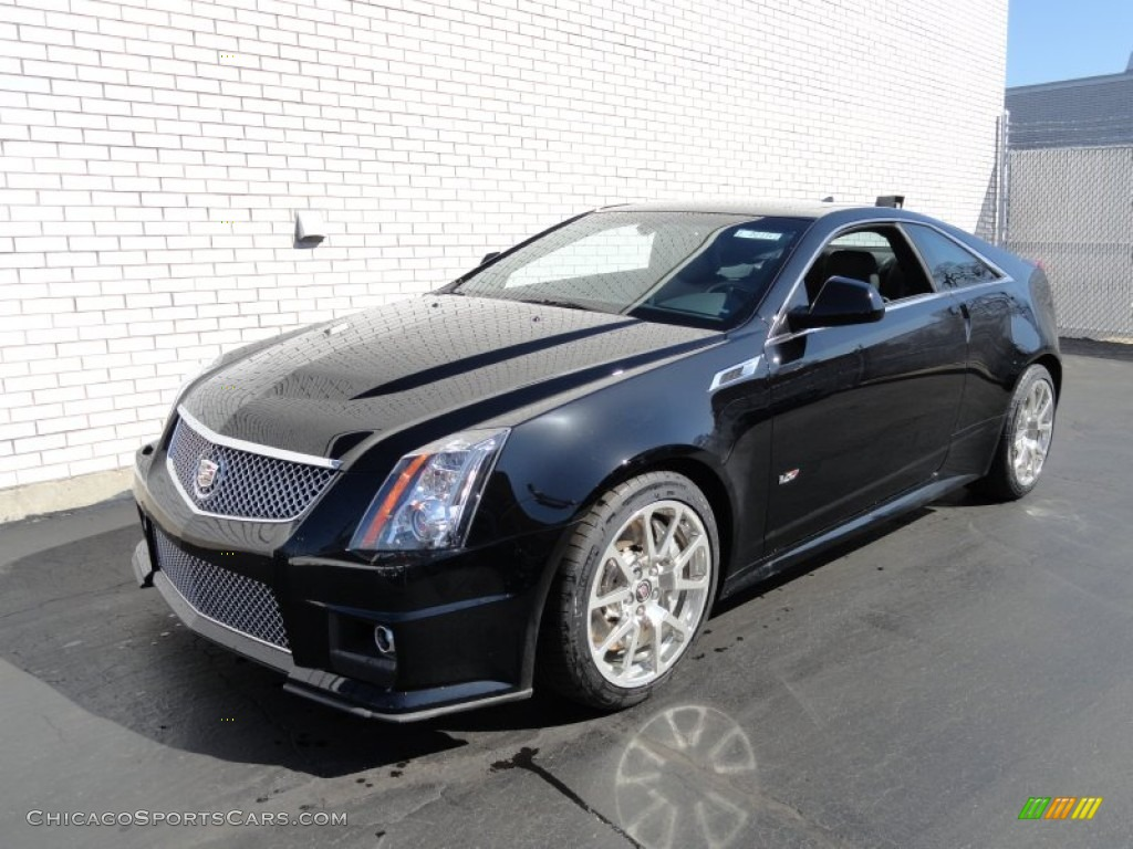 2012 cadillac cts v coupe in black raven 123036. Black Bedroom Furniture Sets. Home Design Ideas