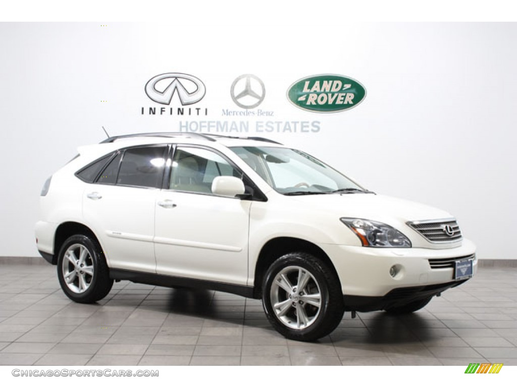 2008 lexus rx 400h awd hybrid in crystal white 855313. Black Bedroom Furniture Sets. Home Design Ideas