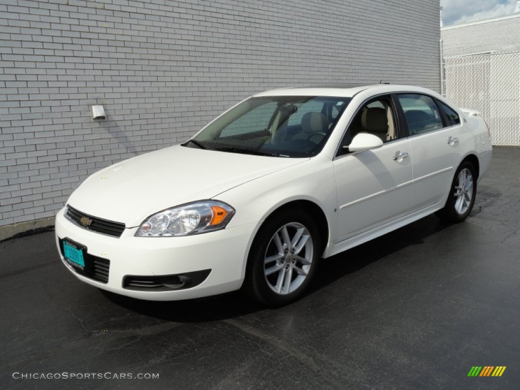 2009 chevrolet impala ltz in white 283230. Black Bedroom Furniture Sets. Home Design Ideas