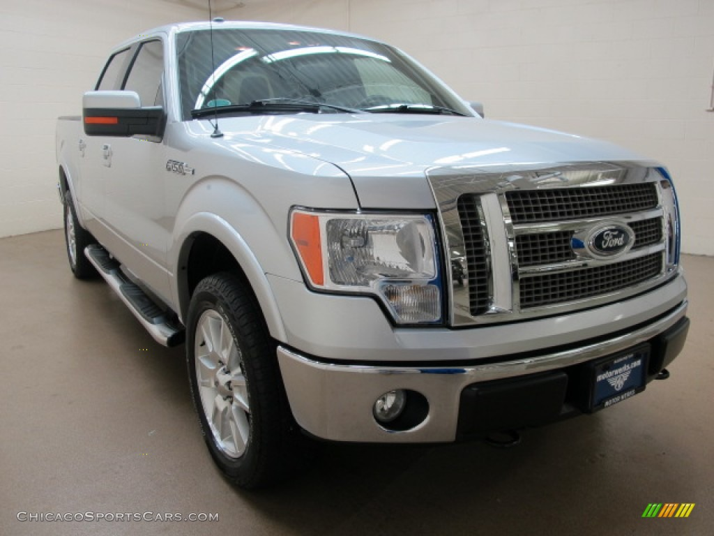 2010 Ford F150 Lariat Supercrew 4x4 In Ingot Silver