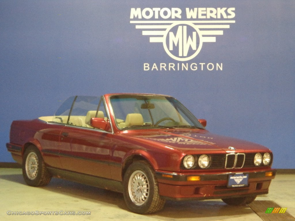 1991 bmw 3 series 318i convertible in brocade red metallic for Motor werks barrington used cars
