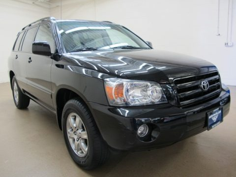 Black 2007 Toyota Highlander V6