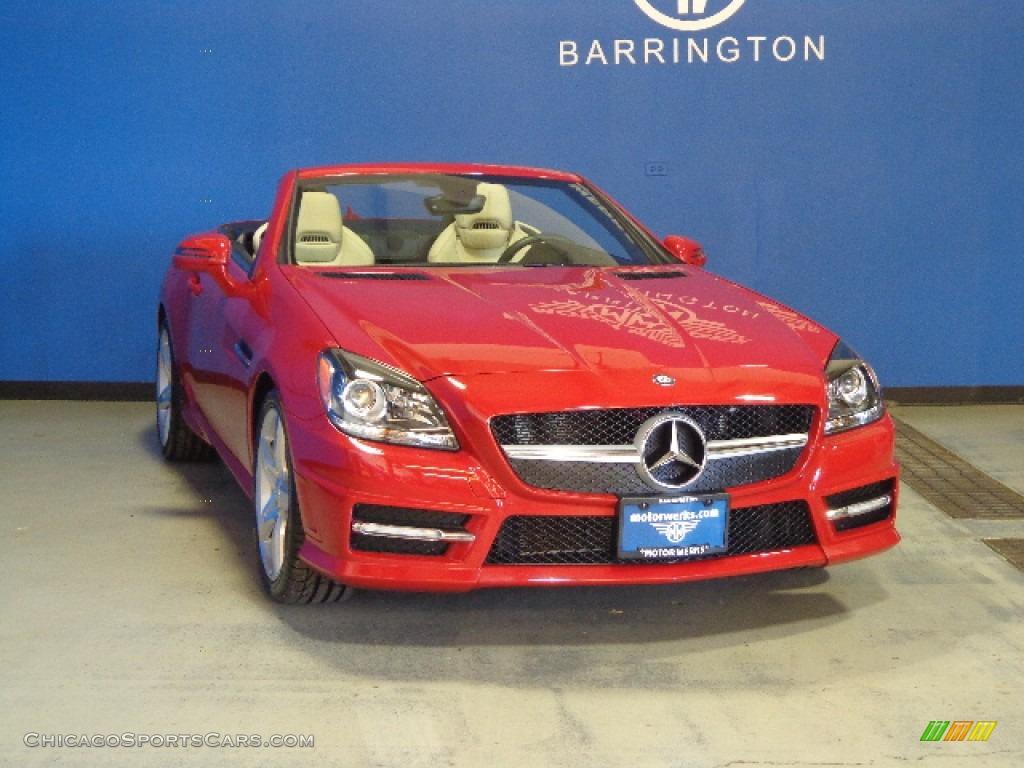 2012 mercedes benz slk 350 roadster in mars red 007048 for Mercedes benz motor werks barrington
