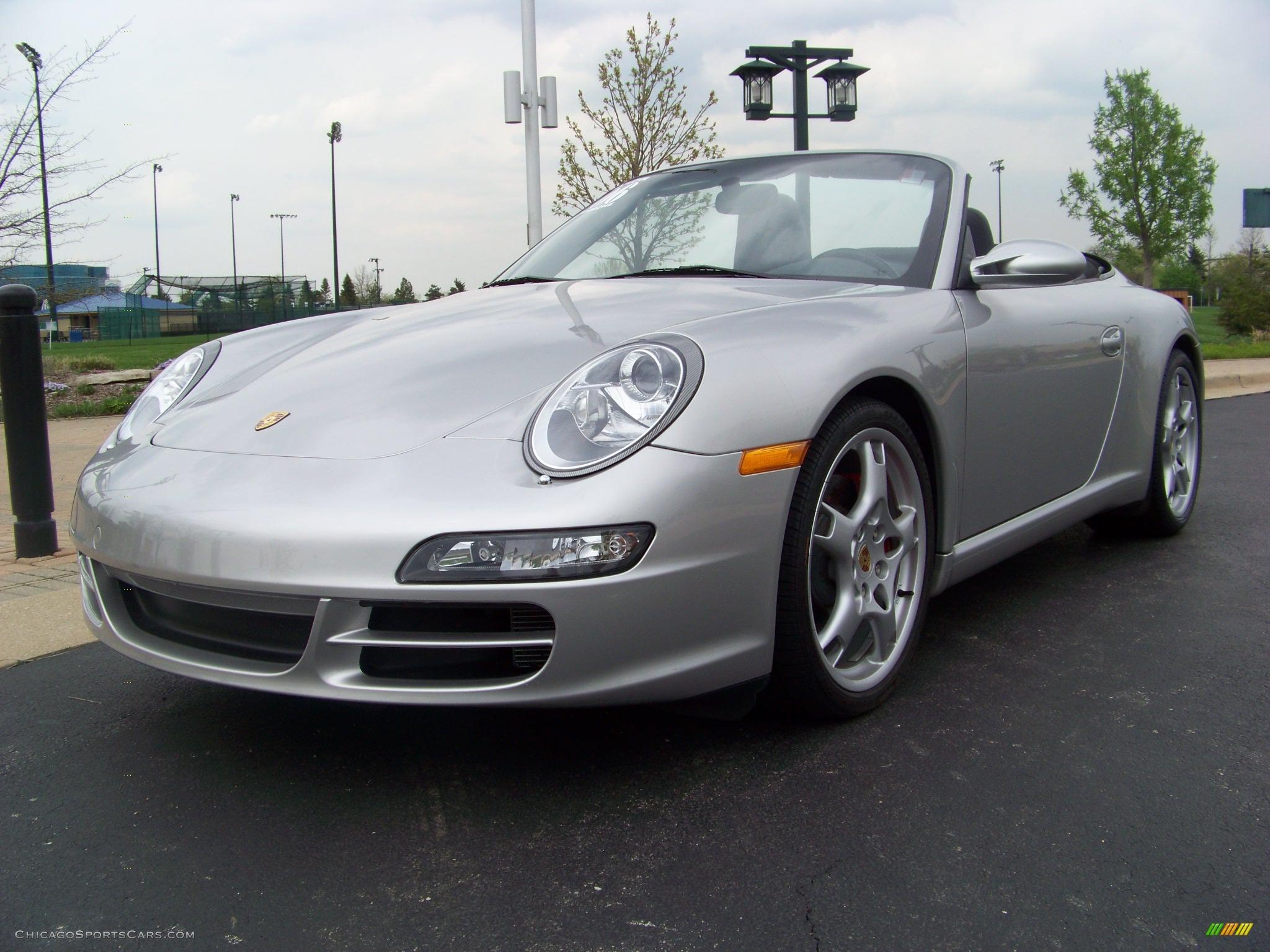 2006 porsche 911 carrera s cabriolet in arctic silver metallic 768052. Black Bedroom Furniture Sets. Home Design Ideas