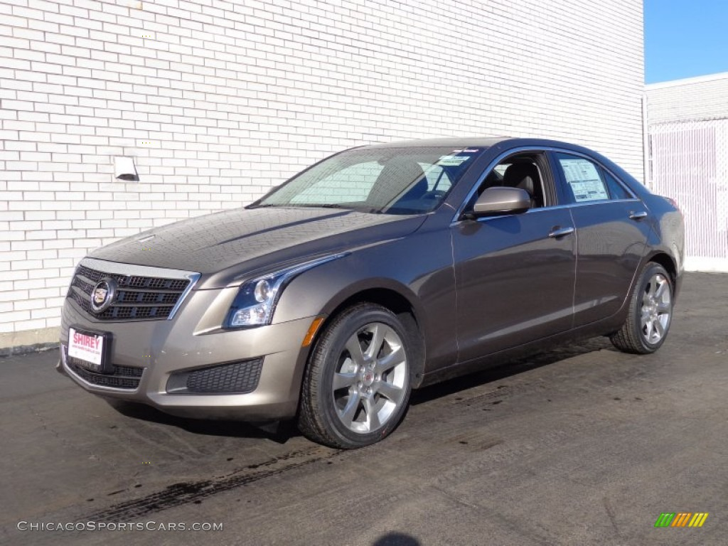 2014 cadillac ats 2 0l turbo awd in mocha steel metallic 167958 cars. Black Bedroom Furniture Sets. Home Design Ideas