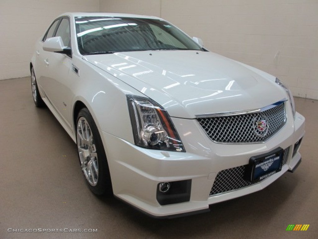 2014 cadillac cts v sedan in white diamond tricoat 109979 cars for. Black Bedroom Furniture Sets. Home Design Ideas