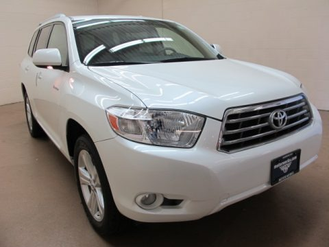 Blizzard White Pearl 2010 Toyota Highlander Limited 4WD
