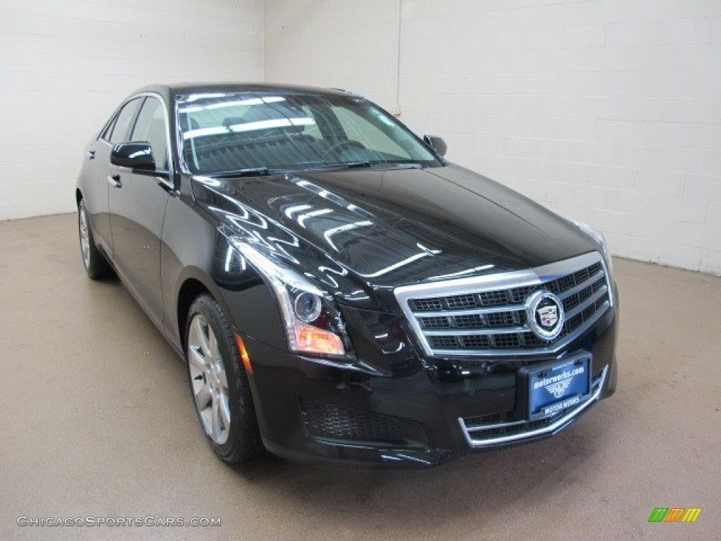 2014 cadillac ats 2 5l in black raven 155898 cars for sale in illinois. Black Bedroom Furniture Sets. Home Design Ideas