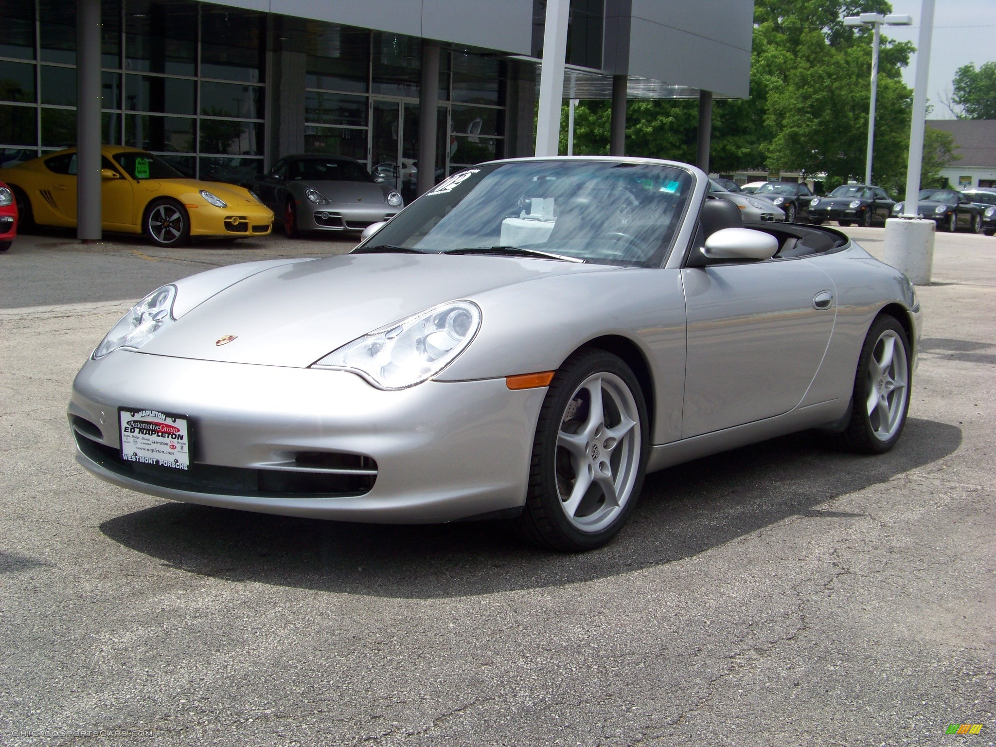 2002 porsche 911 carrera cabriolet in arctic silver metallic 654286. Black Bedroom Furniture Sets. Home Design Ideas